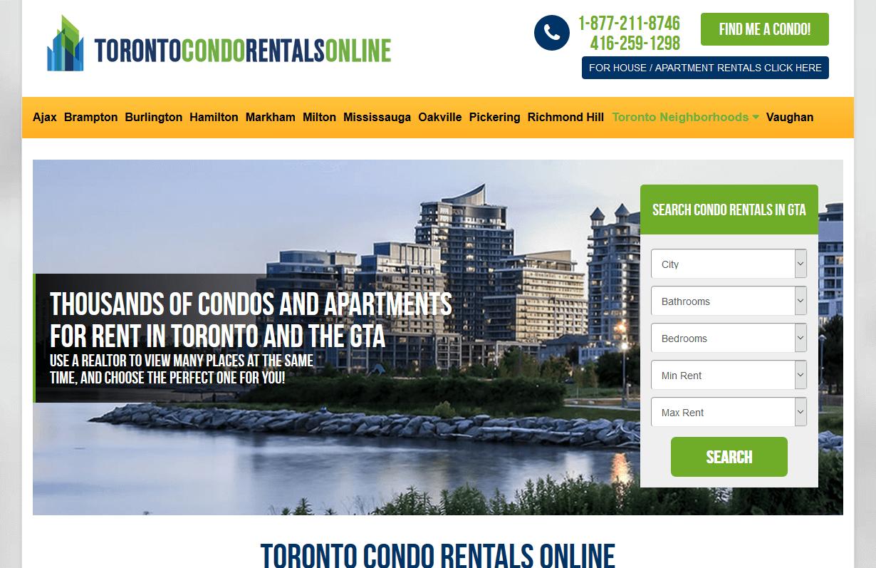 Toronto Condo Rentals Online