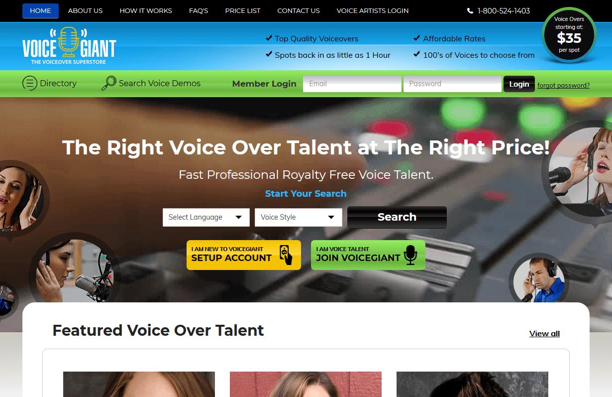 Voiceover Artist Directory
