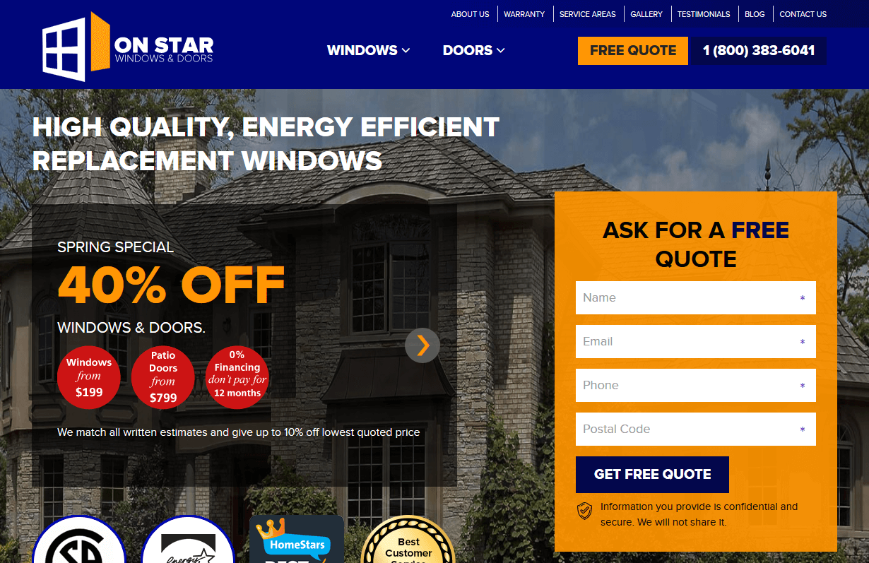 Onstar Windows Doors