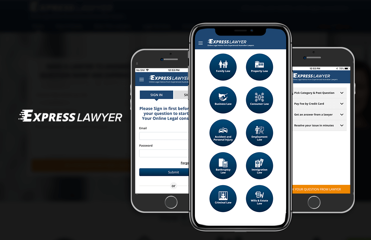 Express Lawyer - Mobile App