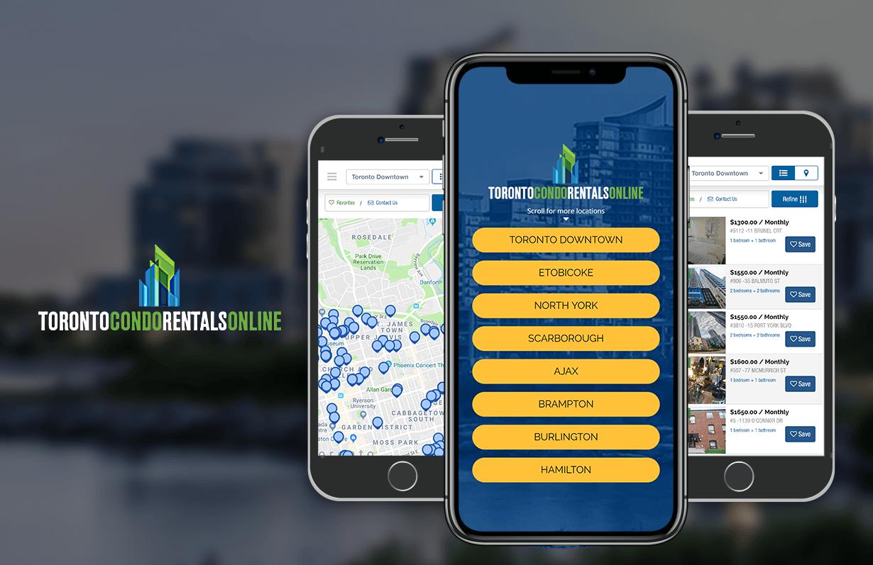 Toronto Condo Rentals Online - Mobile App